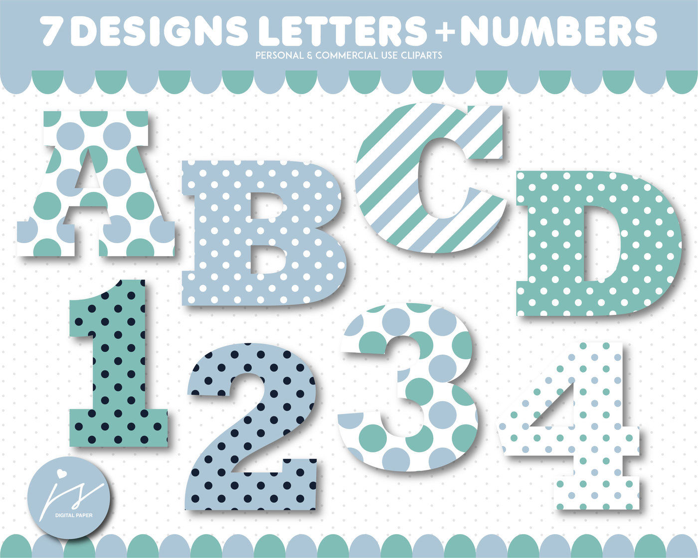 Alphabet clipart and numbers clipart, AL.
