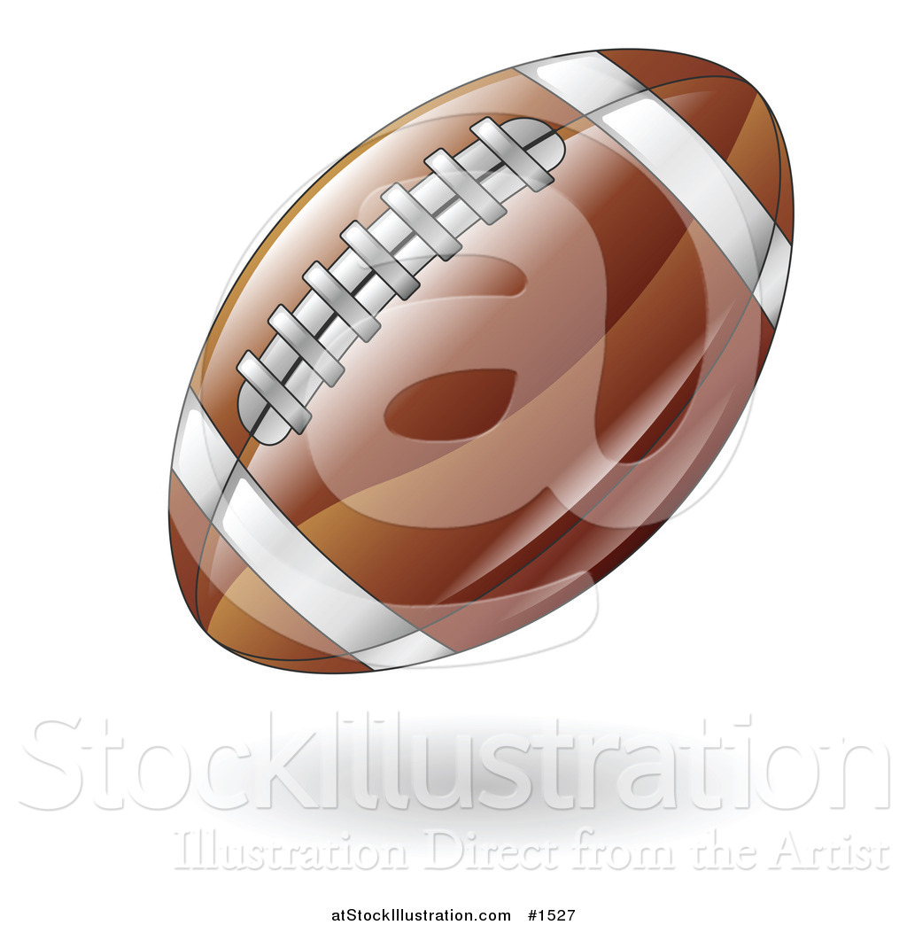 Vector Illustration of a Hovering American Football by.