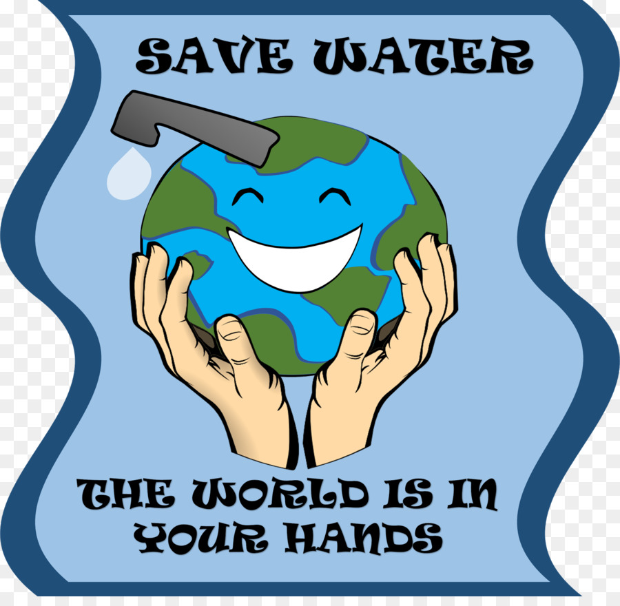 Water conservation Poster Clip art.