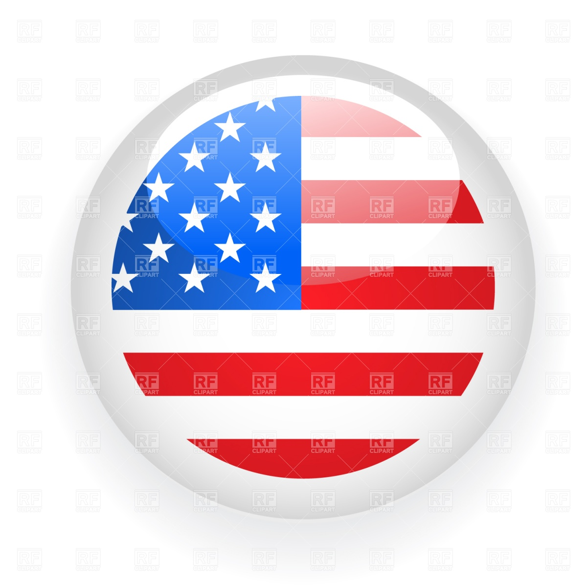 American flag badge Vector Image #1545.