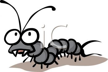 Royalty Free Clipart Image: Cartoon of a Vampire Caterpillar.