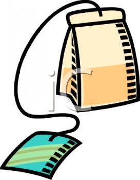 Royalty Free Clip Art Image: Plain Tea Bag.