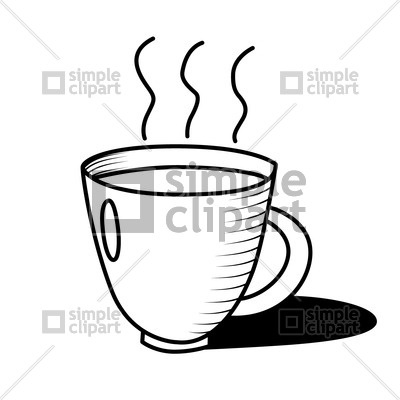 Cup of hot coffee Vector Image #1550.