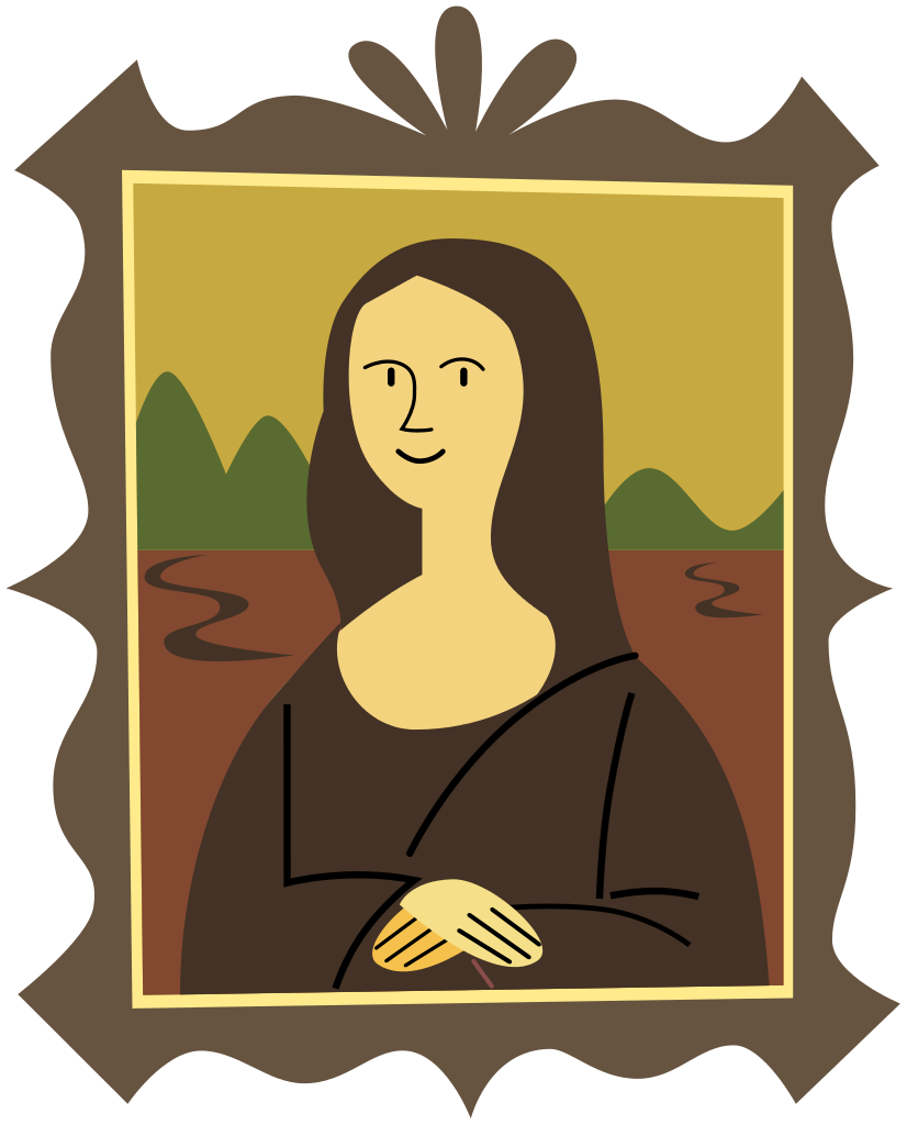 File:Stylized Mona Lisa.svg.