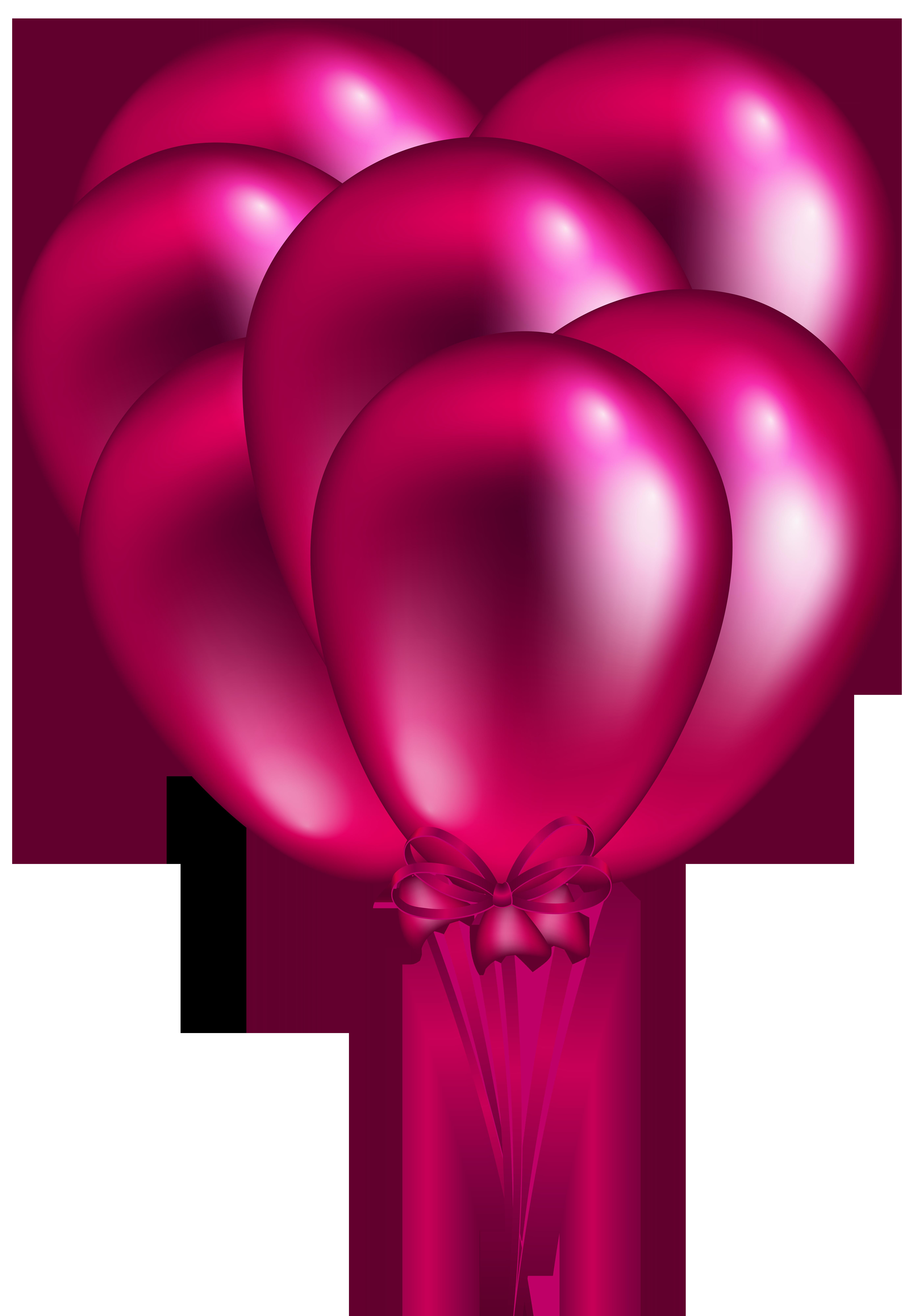 Pink Balloon Bunch PNG Clip Art.