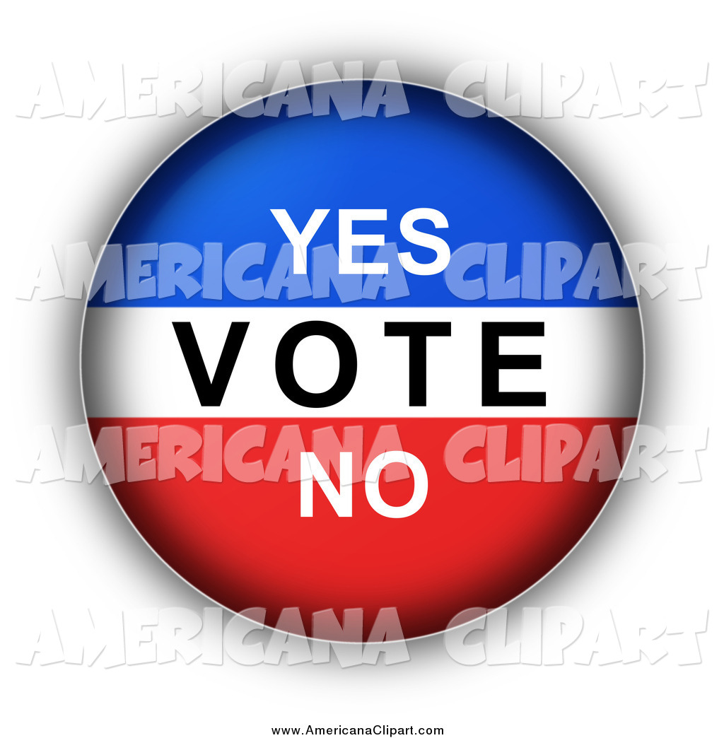 Americana Vector Clip Art of a Red, White and Blue YES VOTE NO.