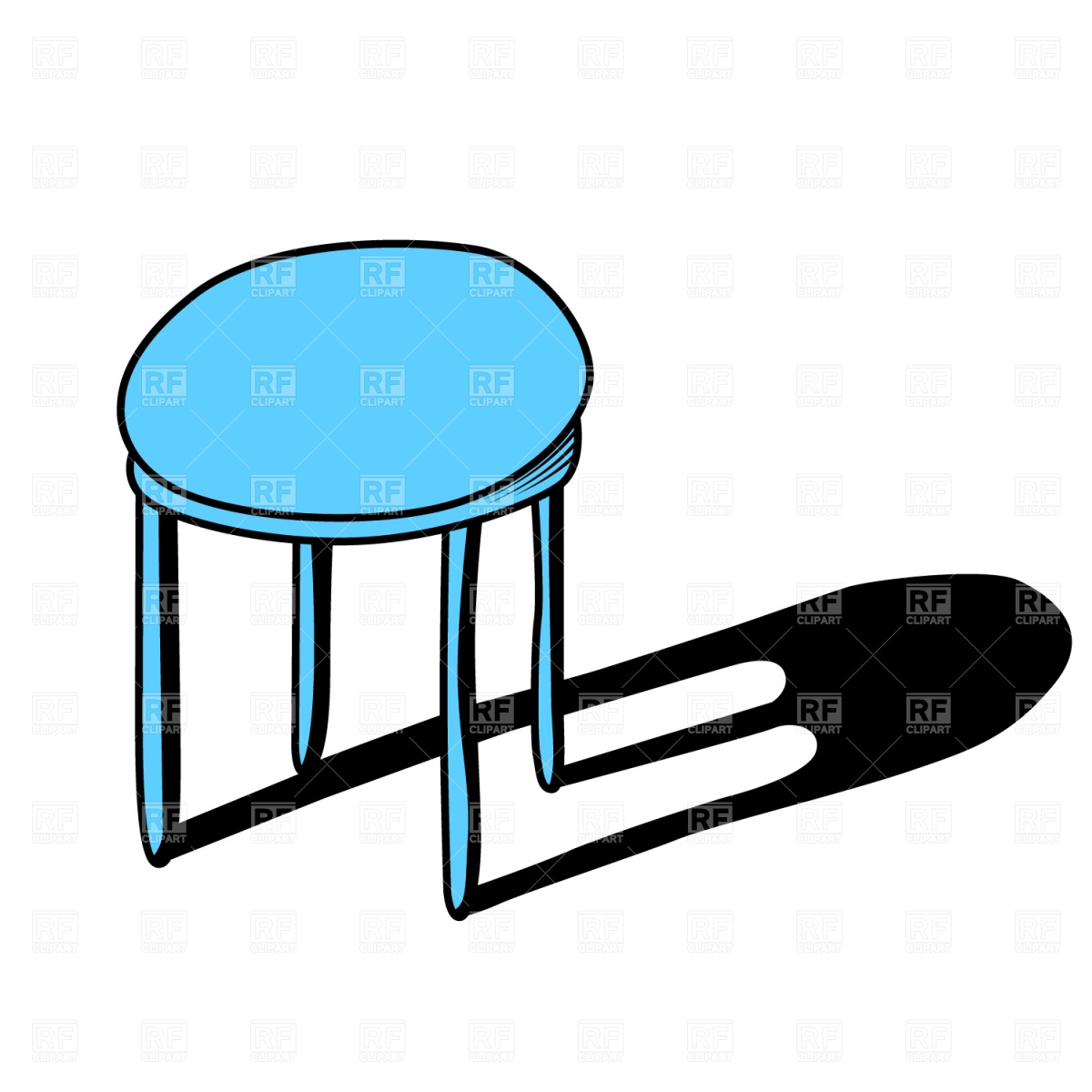 Stool Vector Image of Objects © piekno #1559.