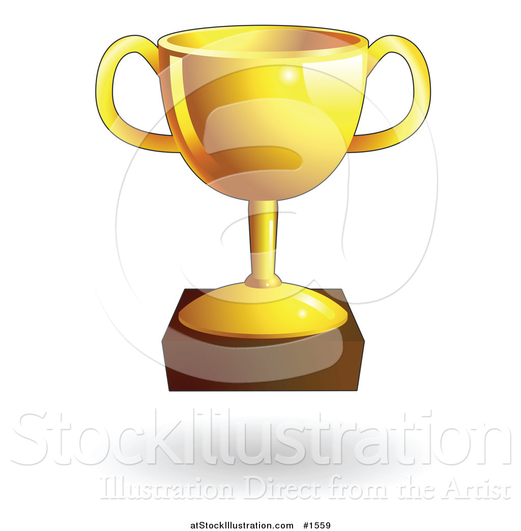Vector Illustration of a Shiny Gold Trophy Cup by.