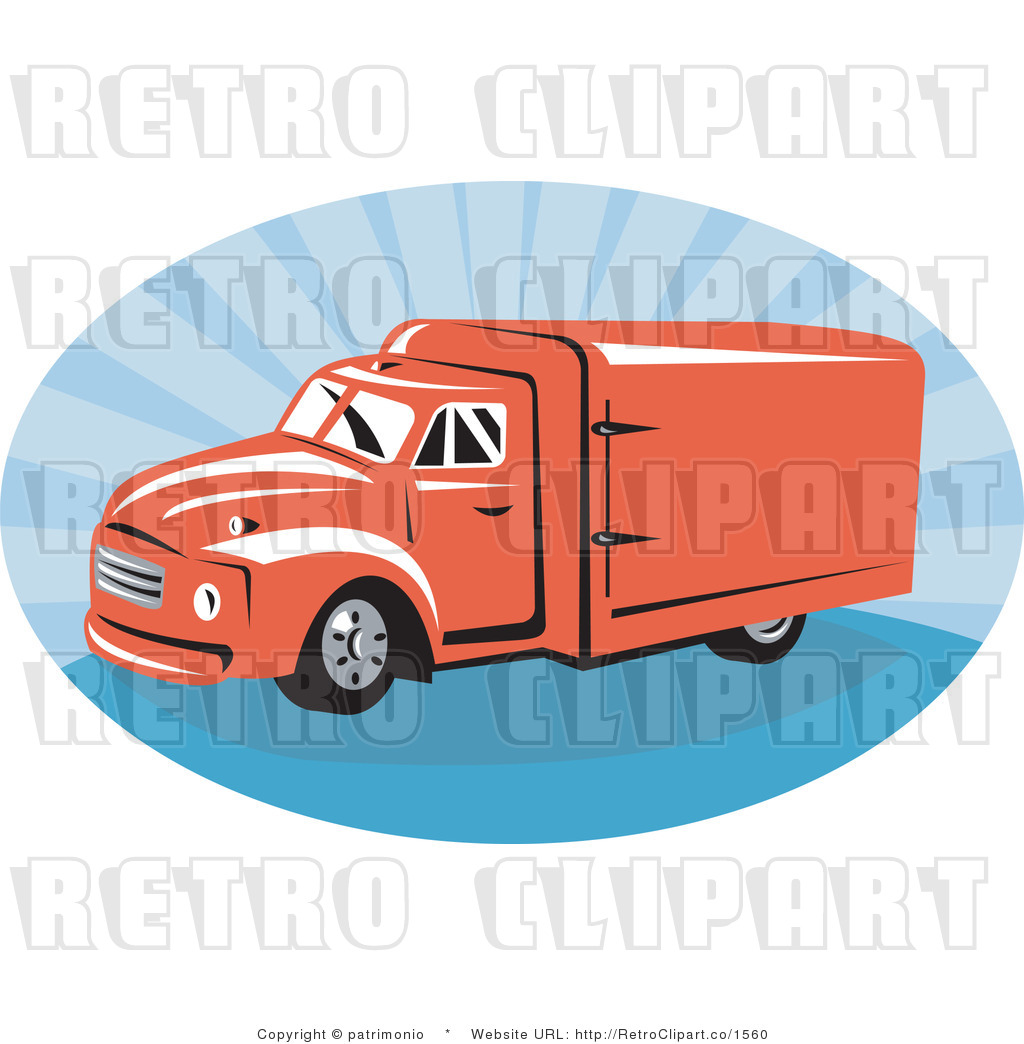 Blue Truck Graphic Clipart.
