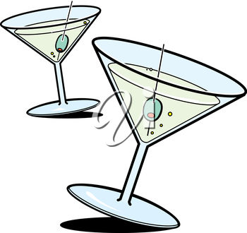 Clipart Illustration of Martinis.