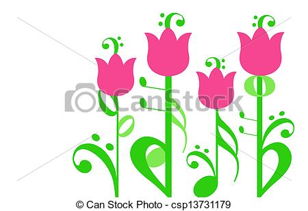 Musical flowers Stock Illustrations. 1,560 Musical flowers clip.