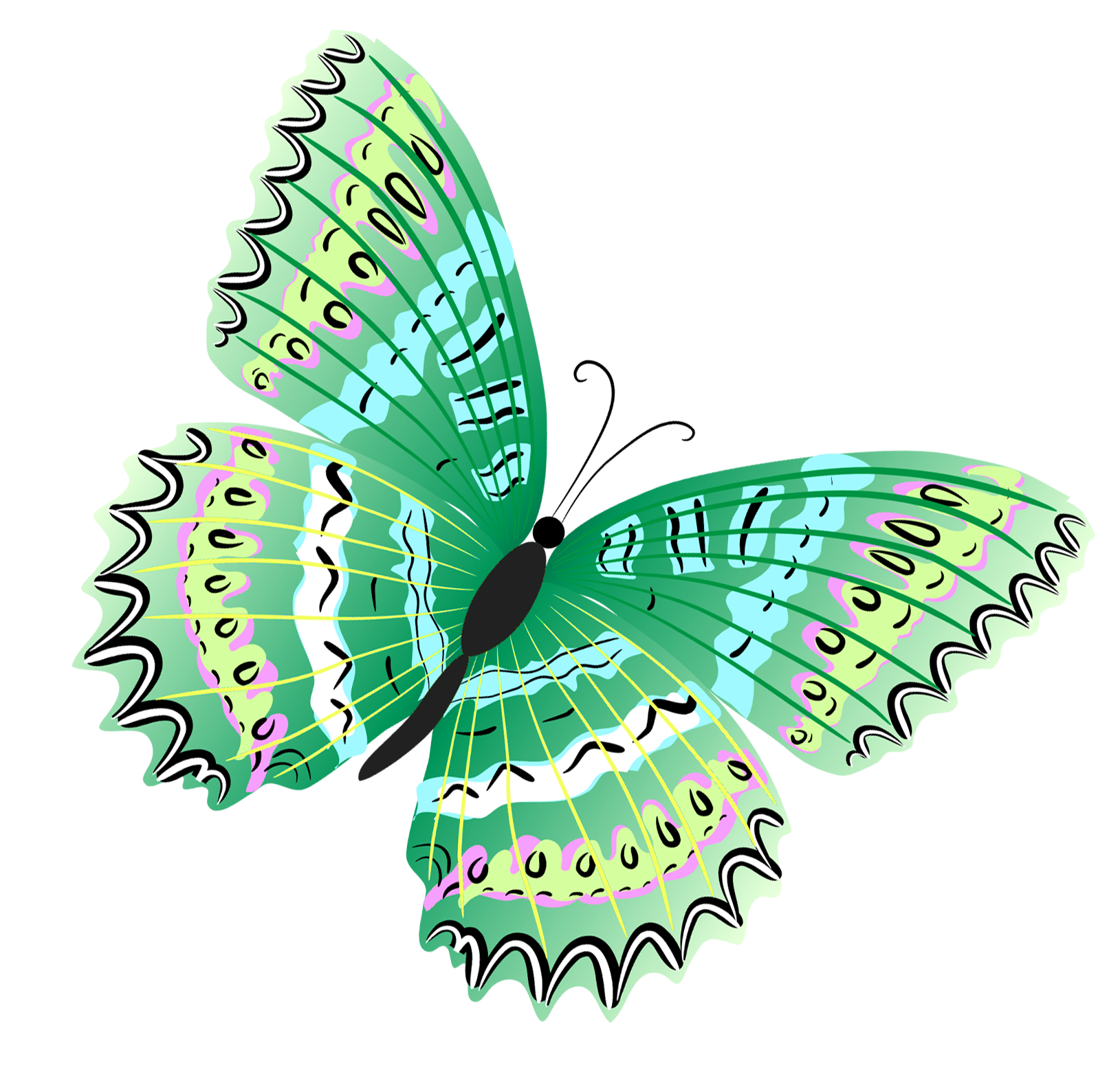 Green_Butterfly_PNG_Clipart.png (1629×1560).