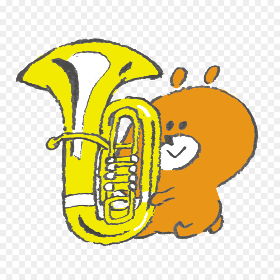 Tuba Illustration Mellophone Brass Instruments Clip art.