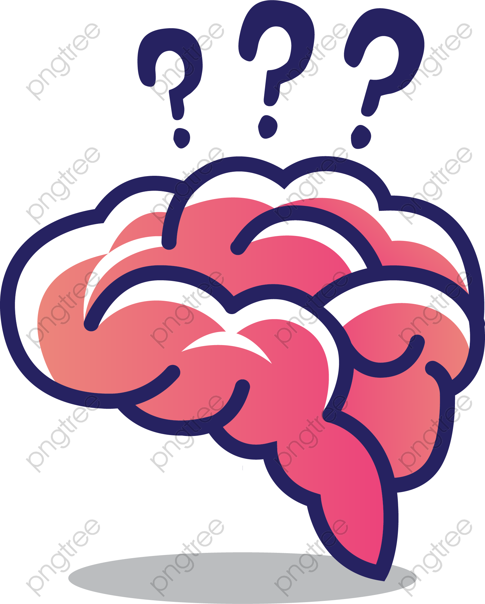 Transparent brain thinking PNG Format Image With Size 1564*1948.