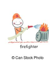 Fun Firefighter Clipart.