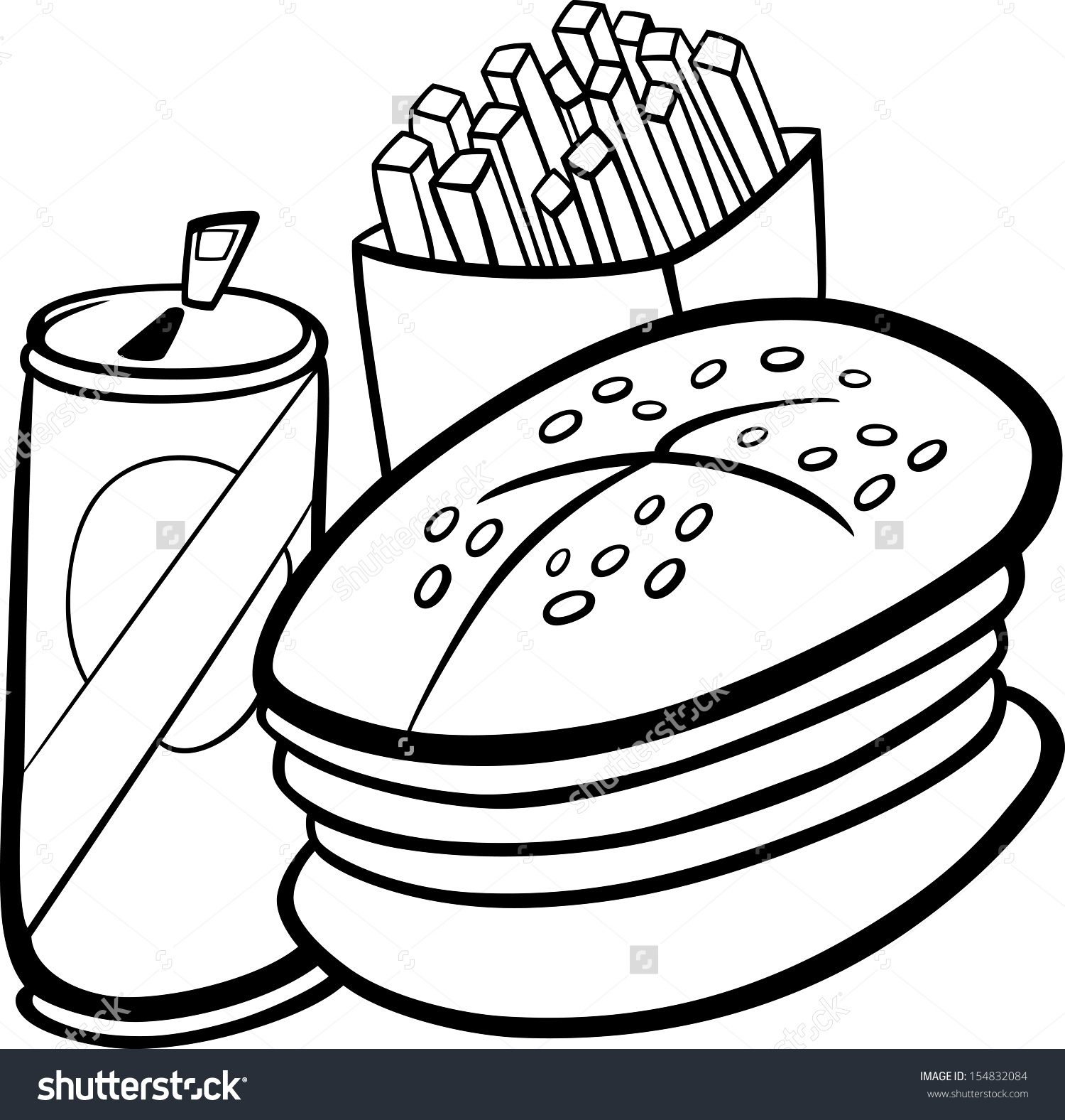Meal clipart black and white.