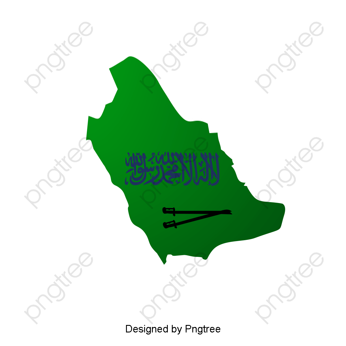 Transparent saudi arabia national day map PNG Format Image With Size.