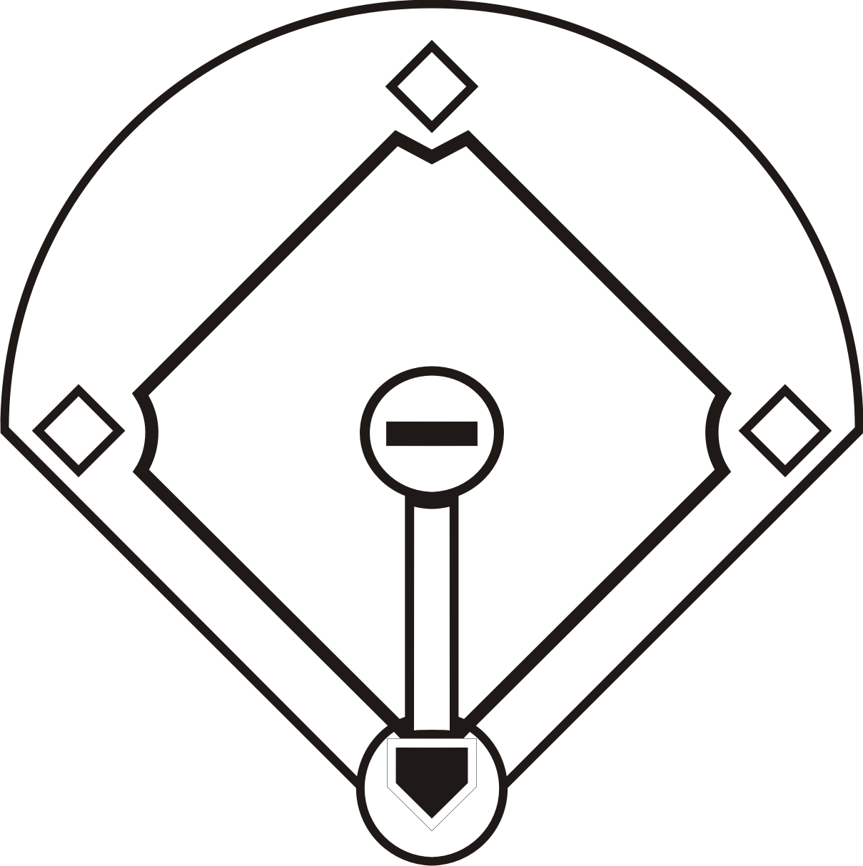 Baseball Diamond Clipart #15.