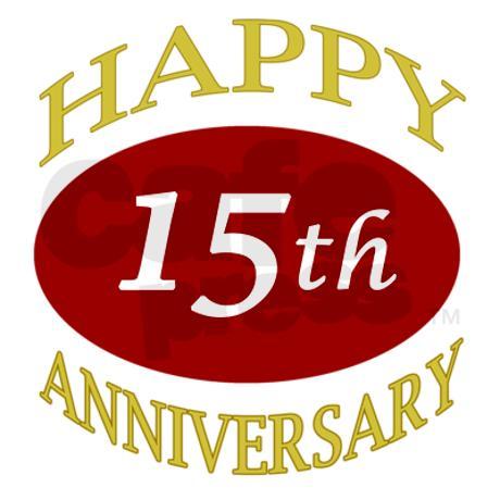 15 Year Anniversary Clip Art.