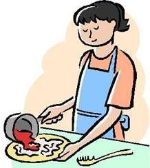 Kids Cooking Cartoon Clip Art.