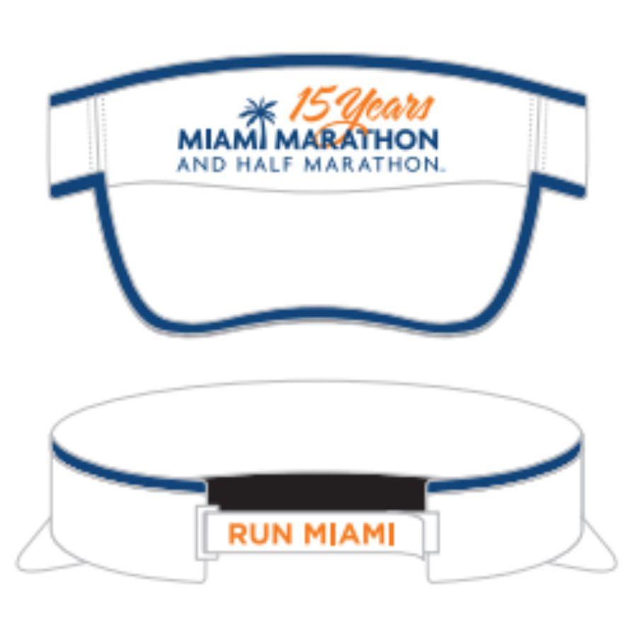 Miami Marathon: '15 Yr Logo' Tech Visor.