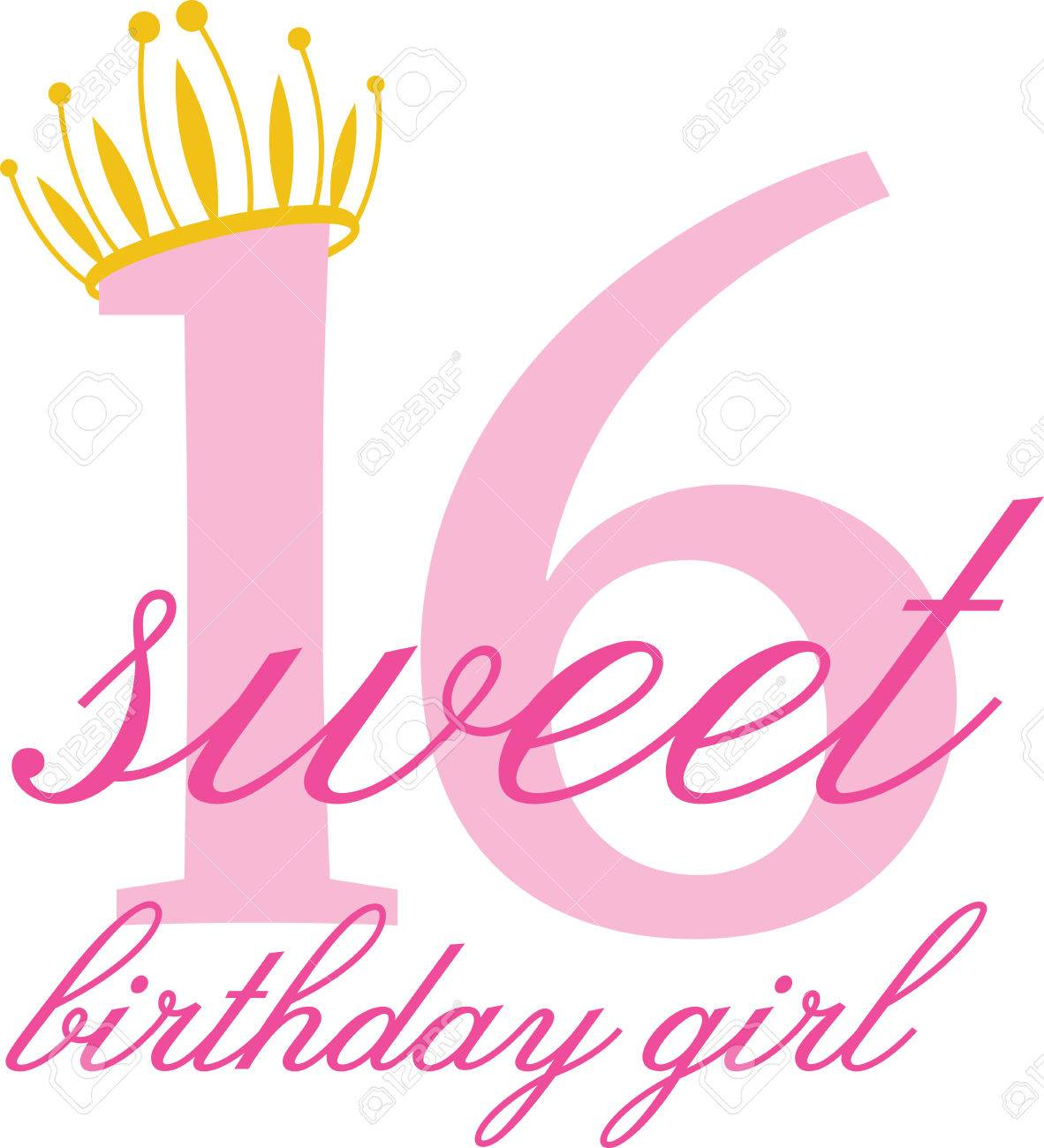 Sweet 16 birthday clipart 7 » Clipart Station.