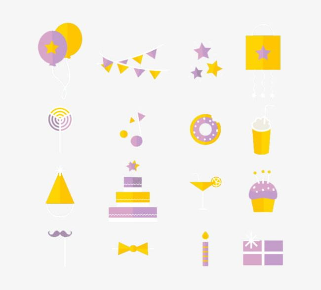 Paragraph 16 Birthday Icon Element Material PNG, Clipart, 16.