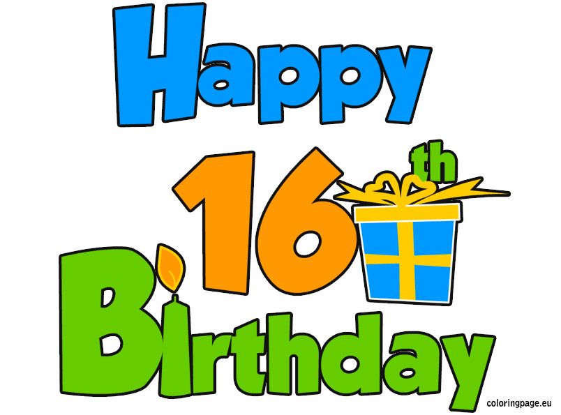 Free 16 Birthday Cliparts, Download Free Clip Art, Free Clip.