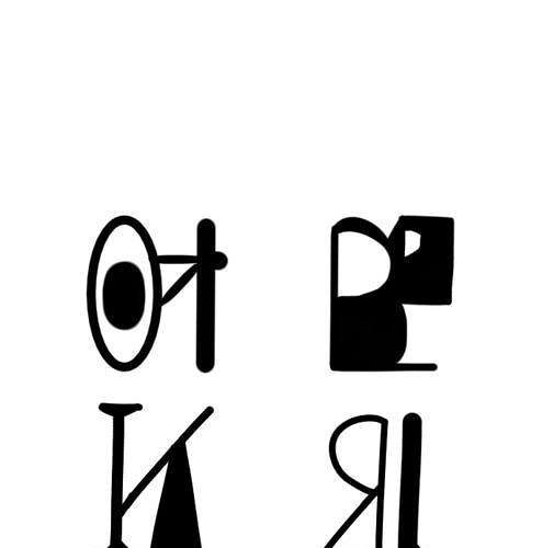 Engraved hieroglyph mapping.