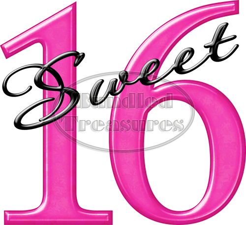 Sweet Sixteen Clipart.