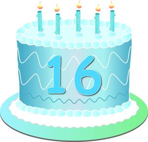 16 Birthday Clipart.