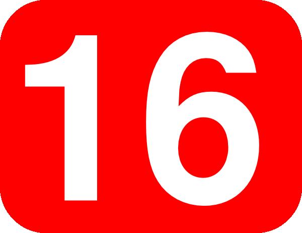 Number 16 Red Background Clip Art at Clker.com.