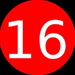 Sixteen Clipart.