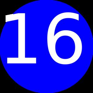 Number 16 Blue Background Clip Art at Clker.com.