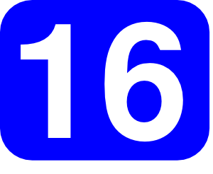 Blue Rounded Rectangle With Number 16 Clip Art at Clker.com.