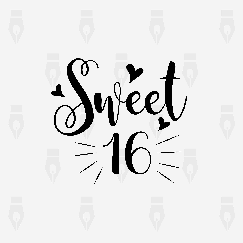 Sweet 16 Clip Art & Free Sweet 16 Clip Art.png Transparent.