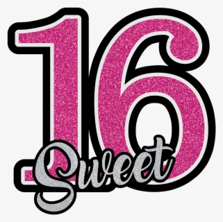Free Sweet 16 Clip Art with No Background.
