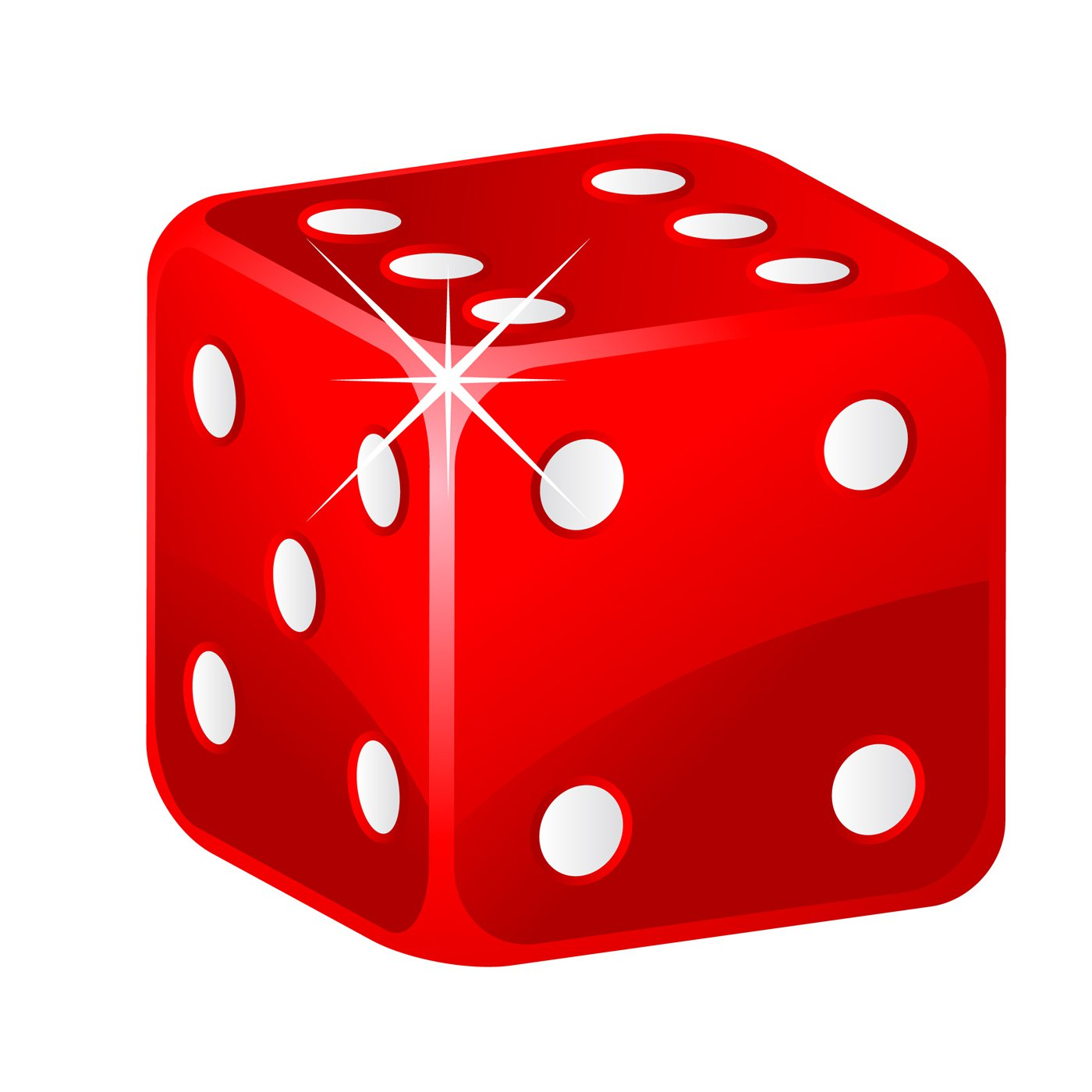 1-6 number cube clipart #8