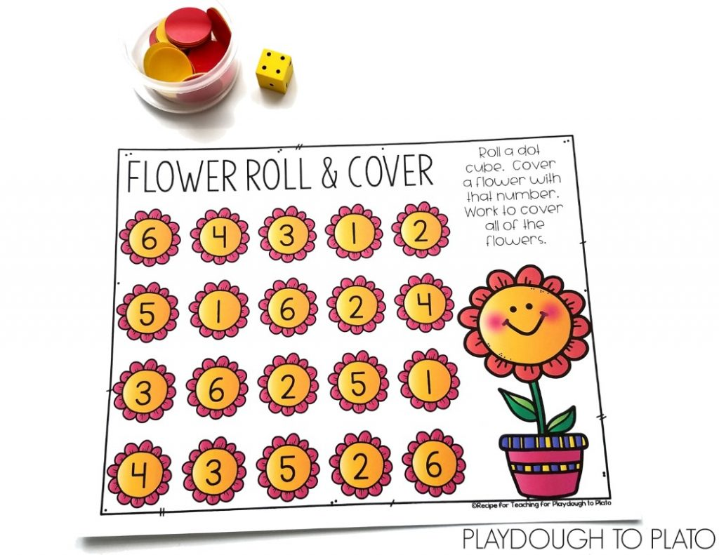 Flower Roll and Cover Game.