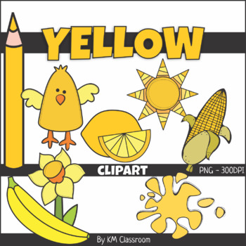 Color Objects YELLOW ClipArt.