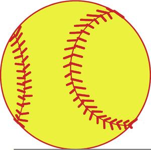Yellow Softball Free Clipart.