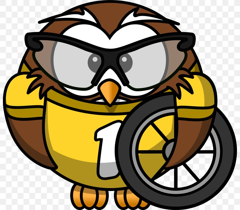 Owl Cycling Bicycle Clip Art, PNG, 800x718px, Owl, Artwork.