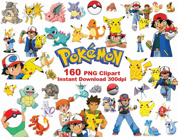INSTANT DL 160 PNG Pokemon Clipart printable by PishPesh2.