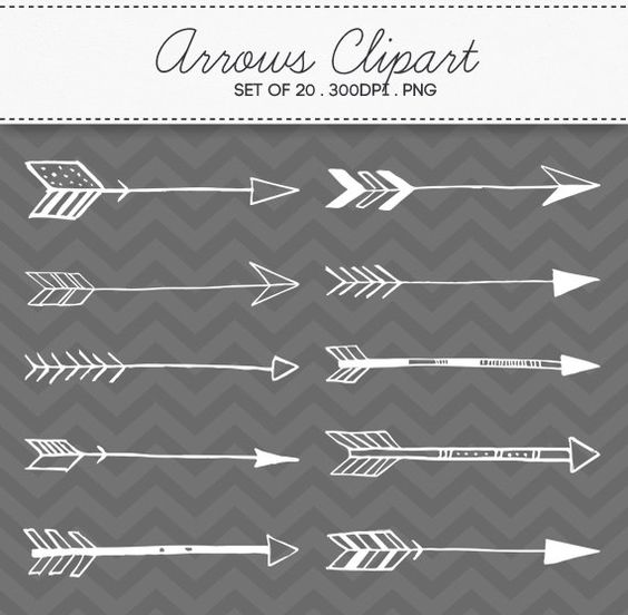 Doodle Tribal Aztec Arrow Divider Hand Drawn Clipart Vector EPS.