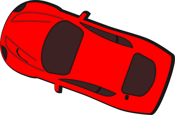 Red Car Top View 160 Clip Art #zlWHB5.