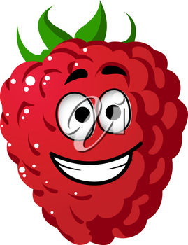 Clipart Illustration of a Cartoon Raspberry.
