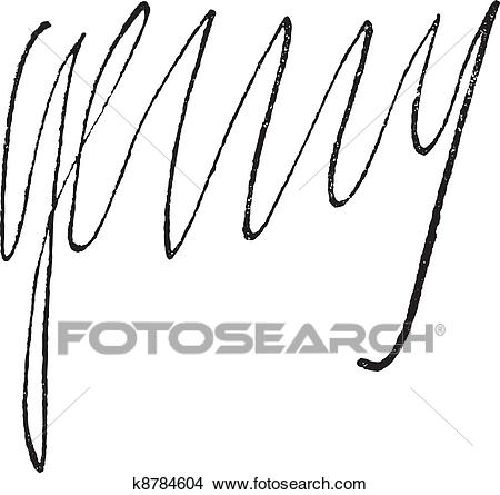 Clipart of Signature of Henri IV, King of France (1553.