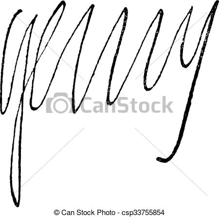 Clipart Vector of Signature of Henri IV, King of France (1553.
