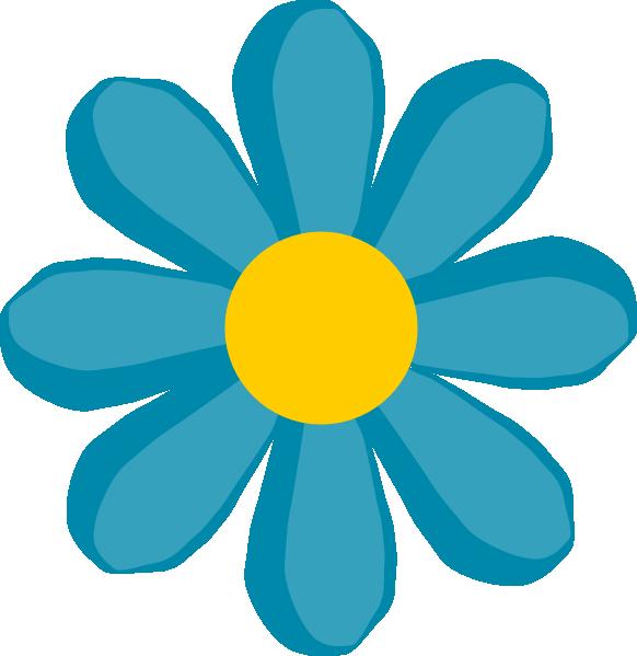 Blue Flower Clip art.