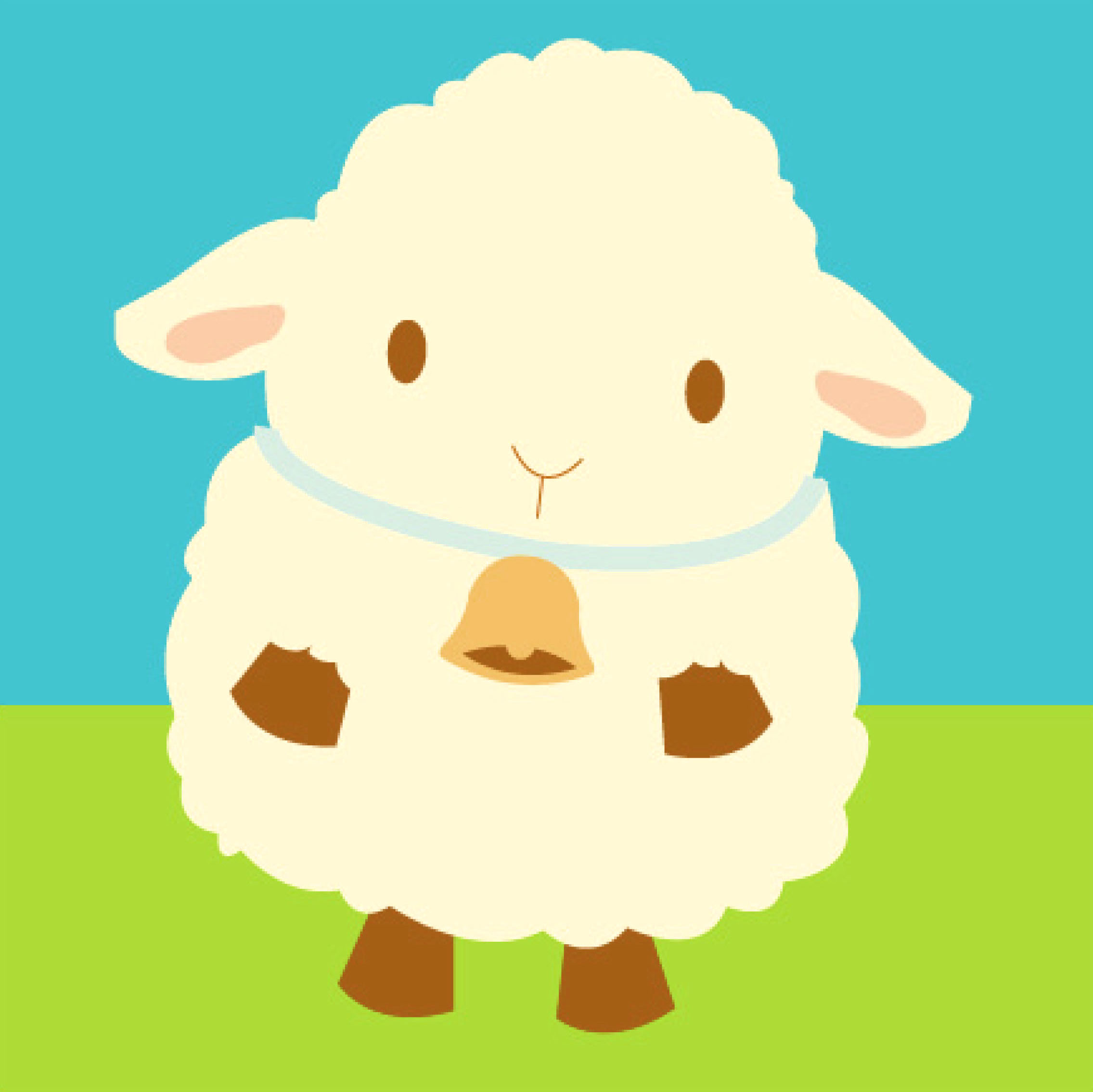Cute sheep clipart.